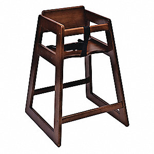 Dark Deluxe Wood High Chair