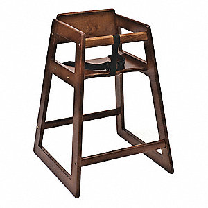 Economy Plus Wood High Chair, Dark