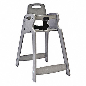 Eco High Chair,  Unssbld,  Gray