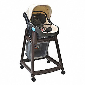 Kidsitter W/Casters Dark Brown/Gray