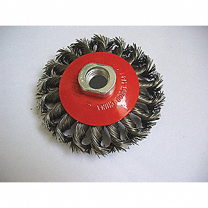 BRUSH WHEEL WIRE KNOT 6IN