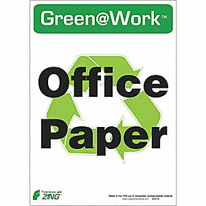 RECYCLE SIGN OFFICE PAPER 5/PK