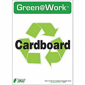 RECYCLE SIGN CARDBOARD 5/PK