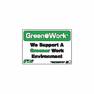 SIGN GREEN AT WORK ENVIRONMENT 7X10