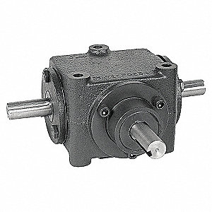 GEAR DRIVE,BEVEL,1750 RPM,2.25HP,CI