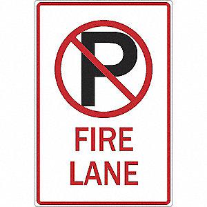 SIGN 12 X 18 NO PARKING FIRE LANE