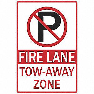 SIGN 12 X 18 NO PARK FIRE LANE TOW