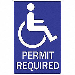 SIGN 12 X 18 HANDICAP PERMIT REQUIR