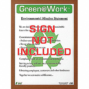 POSTER FRAME GREEN AT WORK BN 22X16