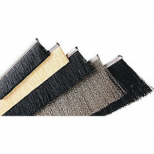 BRUSH STRIP 1X48X.010 BLK LVL NYLON