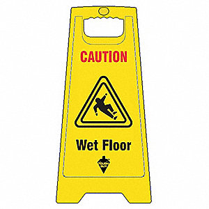 SIGN FLOOR YELLOW 24IN 2 SIDED