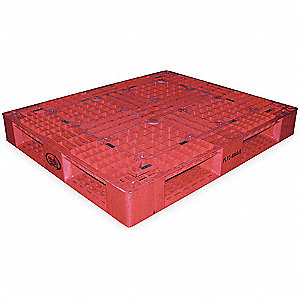 PLASTIC PALLET 48X40IN, RED