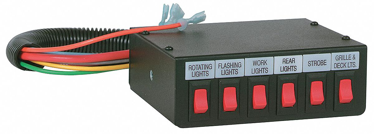 12Z071_AS01 federal signal 6 function switch, 40a 12z071 sw300 012 grainger  at edmiracle.co