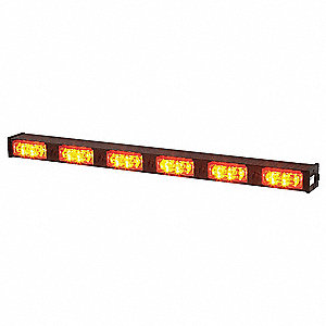 Amber, LED Directional Lightstick, 12VDC, Permanent Mounting, Length 28""