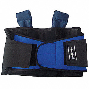 "Neoprene Stretch Sides, Elastic Mesh Back, Nylon Air Chambers Air Temp Advantage Back Belt XL, 9"" Ba"