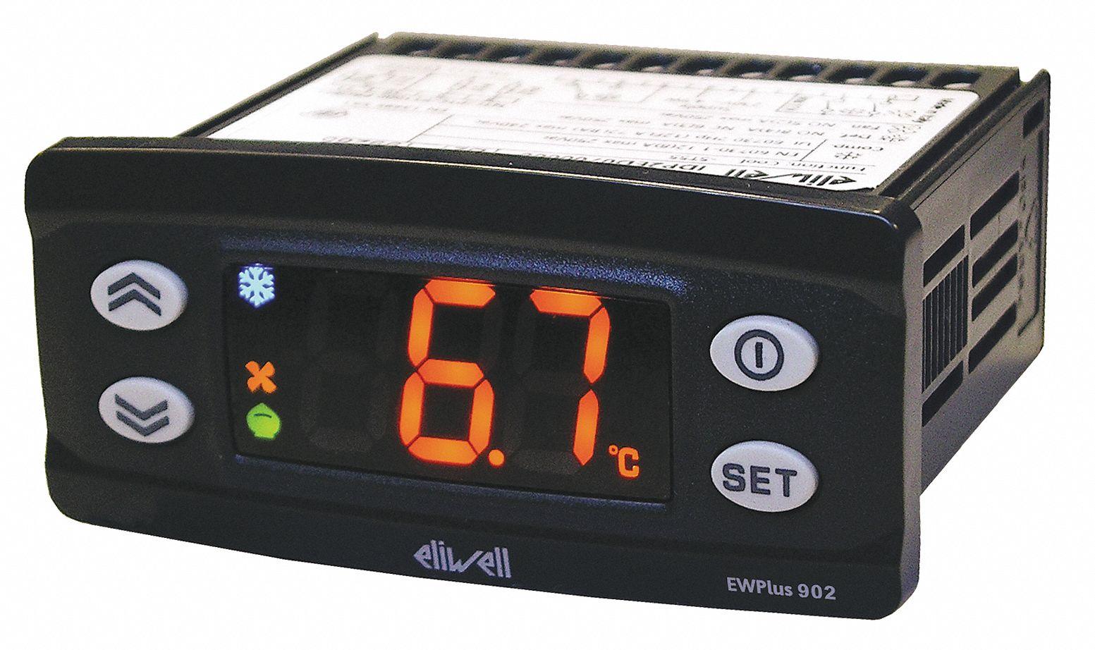 ELIWELL Temperature Control, Digital, SPST, 120V - 12Z412|EWPLUS902-115 -  Grainger