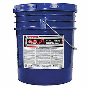 Firestop Spray, 5 gal. Pail, Up to 4 hr. Fire Rating, Red