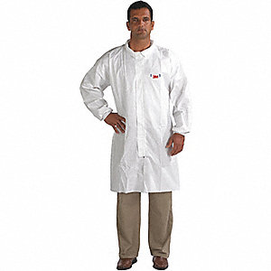 COAT LAB 4400 WHITE SZ M