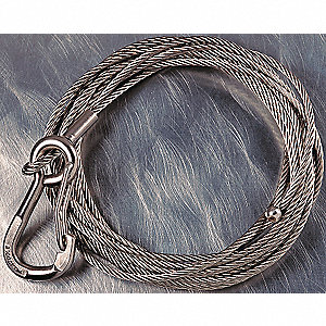 ROPE STAINLSS W/HK 45FTX3/16IN-5122