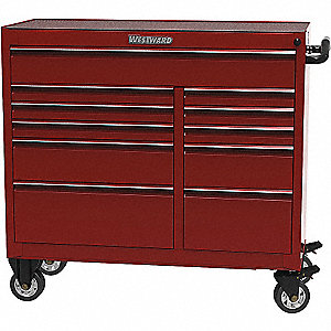 TOOL CABINET 41IN 11 DRWR RED