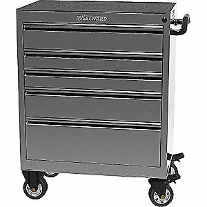 TOOL CABINET 30IN 5 DRWR SS