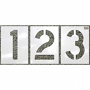 STENCIL NUMBER KIT 12 PC. 12X9IN