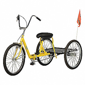 BICYCLE INDUSTRIAL HVY-DUTY YELLOW