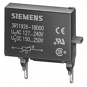 Surge Supressor, 48 to 127VAC Voltage, For Use With 3RT1, S0-S3 Frame Contactors