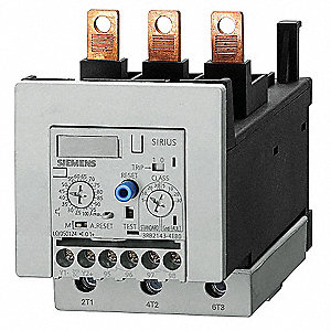 Overload Relay, Trip Class: 5/10/20/30 Adjustable, Current Range: 12.5 to 50.0A, Number of Poles: 3