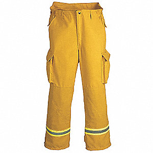 "Cotton,  Turnout Pants, Size: 3XL, Fits Waist Size 50"", 31"" Inseam"