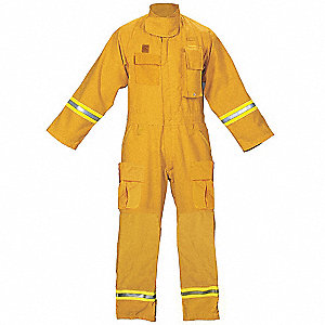 Turnout Coverall,XL,Lime/Silver