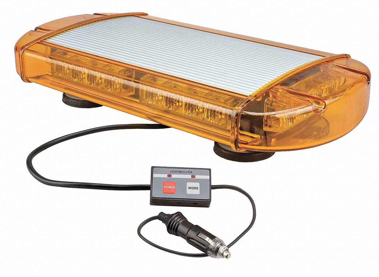Wolo Amber Low Profile Mini Light Bar Led Lamp Type Magnetic Mounting Number Of Heads 14 13a534 3770m A Grainger