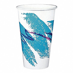 Disp. Cold Cup,12 oz.,White/Blue/PK2000