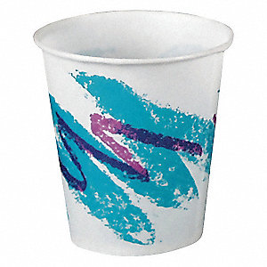 3 oz. Disposable Cold Cup, Waxed Paper, White, PK 5000