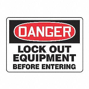 SIGN 7INX10IN DANGR LOCK OUT EQPMNT