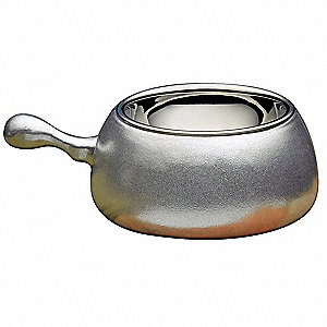 Stainless Steel Fondue Pot&#x3b; Capacity (Qt.): 2