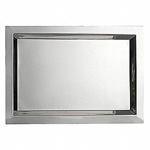 Serving Tray,13-1/8x18-7/8,Stnlss Steel