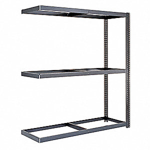 "Boltless Shelving,Add-On,60"" H,Gray"
