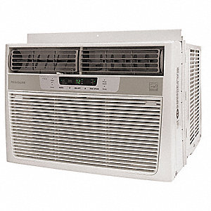 115 Window Air Conditioner, 12,000 BtuH Cooling, Cool Gray, Includes: Pleated Quick Mount Window Kit