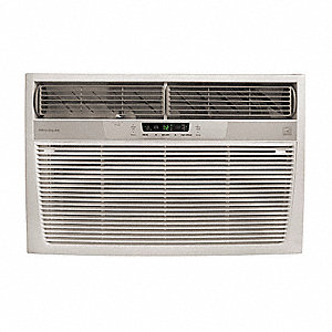 208/230 Window Air Conditioner, 22,000/21,600 BtuH Cooling, Cool Gray, Includes: Pleated Quick Mount