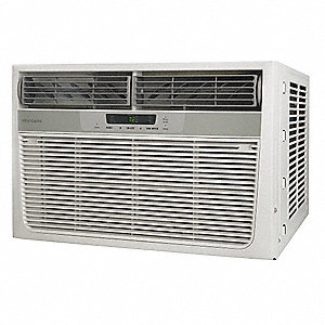 208/230 Window Air Conditioner w/Heat, 11,600/12,000 BtuH Cooling, Cool Gray, Includes: Pleated Quic