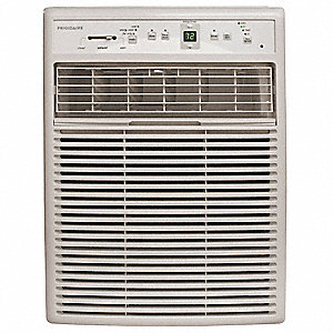 115 Window Air Conditioner, 8000 BtuH Cooling, Cool Gray, Includes: Easy Mount Window Kit
