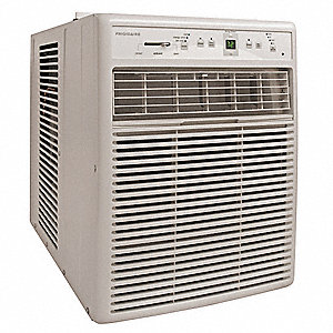115 Window Air Conditioner, 10,000 BtuH Cooling, Cool Gray, Includes: Easy Mount Window Kit