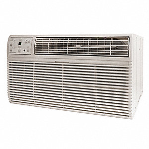 208/230 Wall Air Conditioner, 10,000/9800 BtuH Cooling, Cool Gray, Includes: Remote Control, Univers