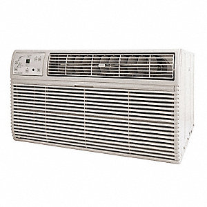208/230 Wall Air Conditioner w/Heat, 9800/10,000 BtuH Cooling, Cool Gray, Includes: Remote Control,