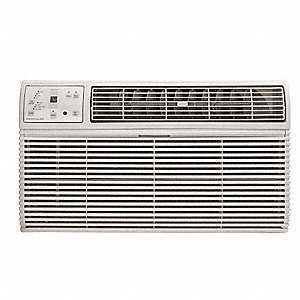 208/230 Wall Air Conditioner w/Heat, 11,700/12,000 BtuH Cooling, Cool Gray, Includes: Remote Control