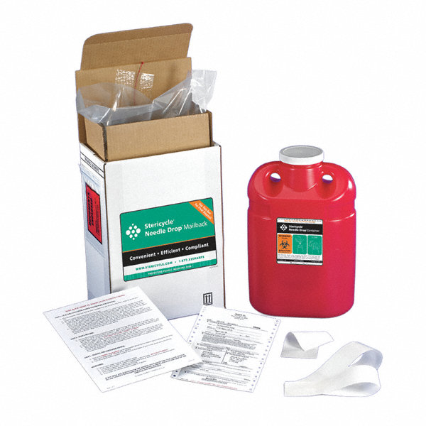 Stericycle Sharps Mailback System 2 Gal Screw Lid