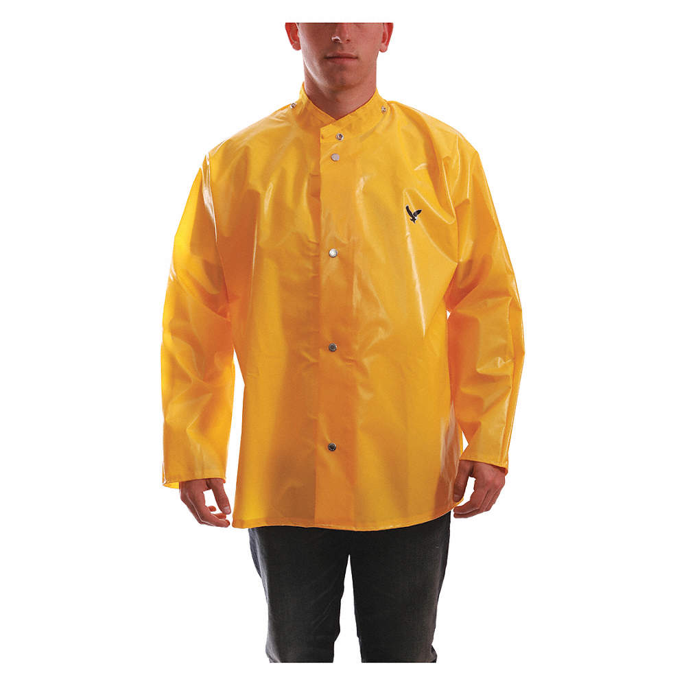 value for money the latest free shipping Rain Jacket, High Visibility: No, ANSI Class: Unrated, Nylon, Polyurethane,  XL, Yellow