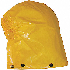 0.25mm Polyurethane Coated Nylon Drawstring Rain Hood, Gold