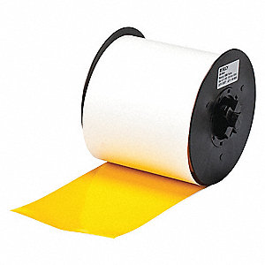 "Indoor/Outdoor Vinyl Film Label Tape Cartridge, Yellow, 4""W x 100 ft."